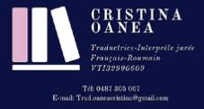 Cristina Oanea, traductrice jurée / assermentée roumain-français-roumain en Belgique